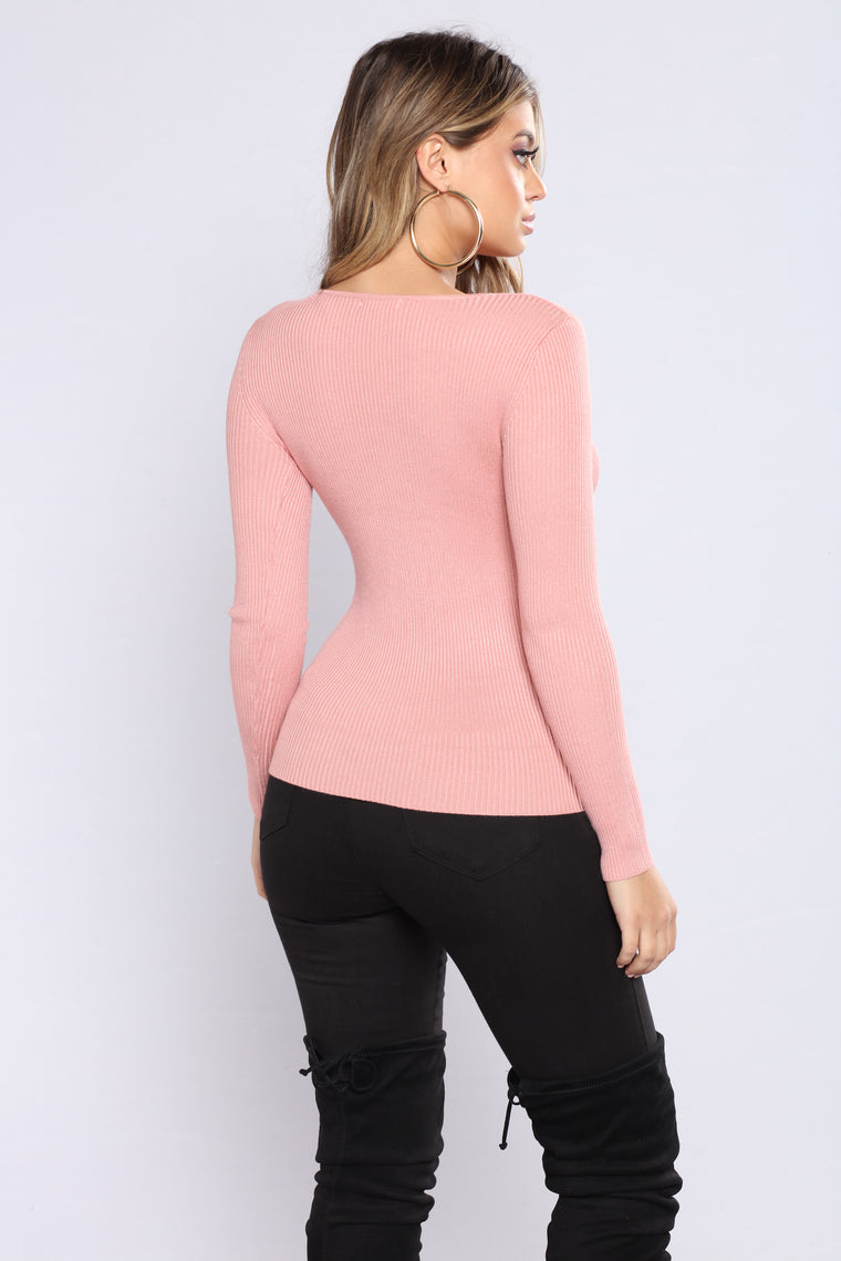 The Perfect Sweater Top - Mauve