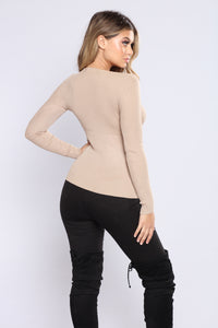 The Perfect Sweater Top - Khaki