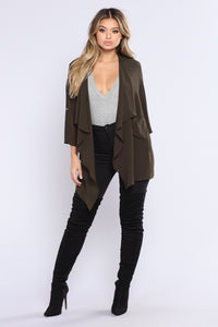Light As A Feather Jacket - Olive Angle 2