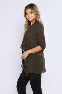 Light As A Feather Jacket - Olive Angle 3