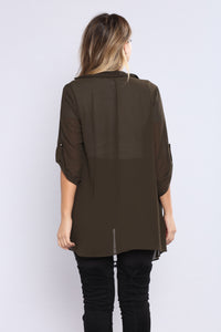 Light As A Feather Jacket - Olive Angle 4