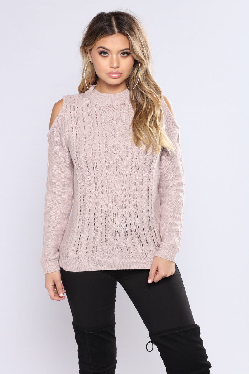 Making Sense To Me Lace Up Sweater - Lavendar