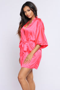 Lazy Mornings Robe - Hot Pink