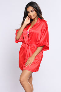 Lazy Mornings Robe - Red