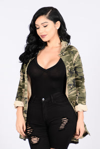 Straight From Combat Jacket - Camo Angle 2