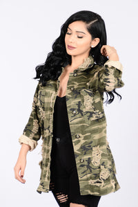 Straight From Combat Jacket - Camo Angle 4