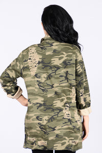 Straight From Combat Jacket - Camo Angle 3
