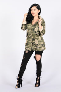 Straight From Combat Jacket - Camo Angle 5