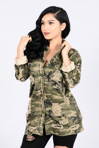 Straight From Combat Jacket - Camo Angle 1