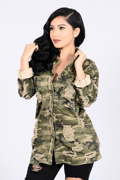 Straight From Combat Jacket - Camo