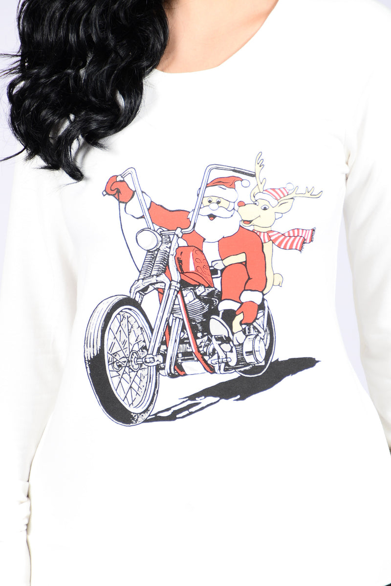 Holiday Joy Ride Sweater - Ivory