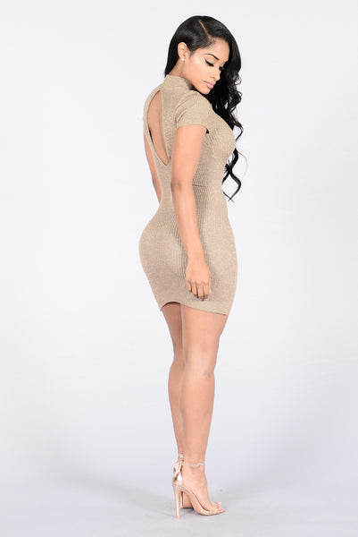 Wanderlust Babe Dress - Mocha/Gold