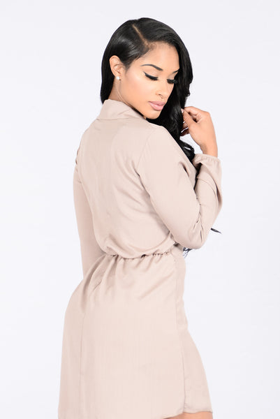 Got Things To Do Romper - Taupe
