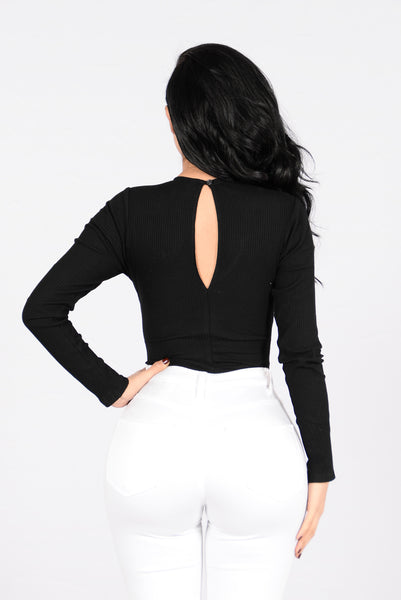 All About Me Bodysuit - Black