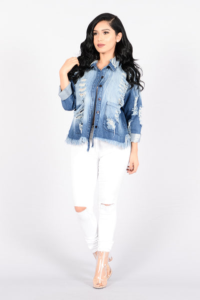 Reinforce Denim Jacket - Medium Blue