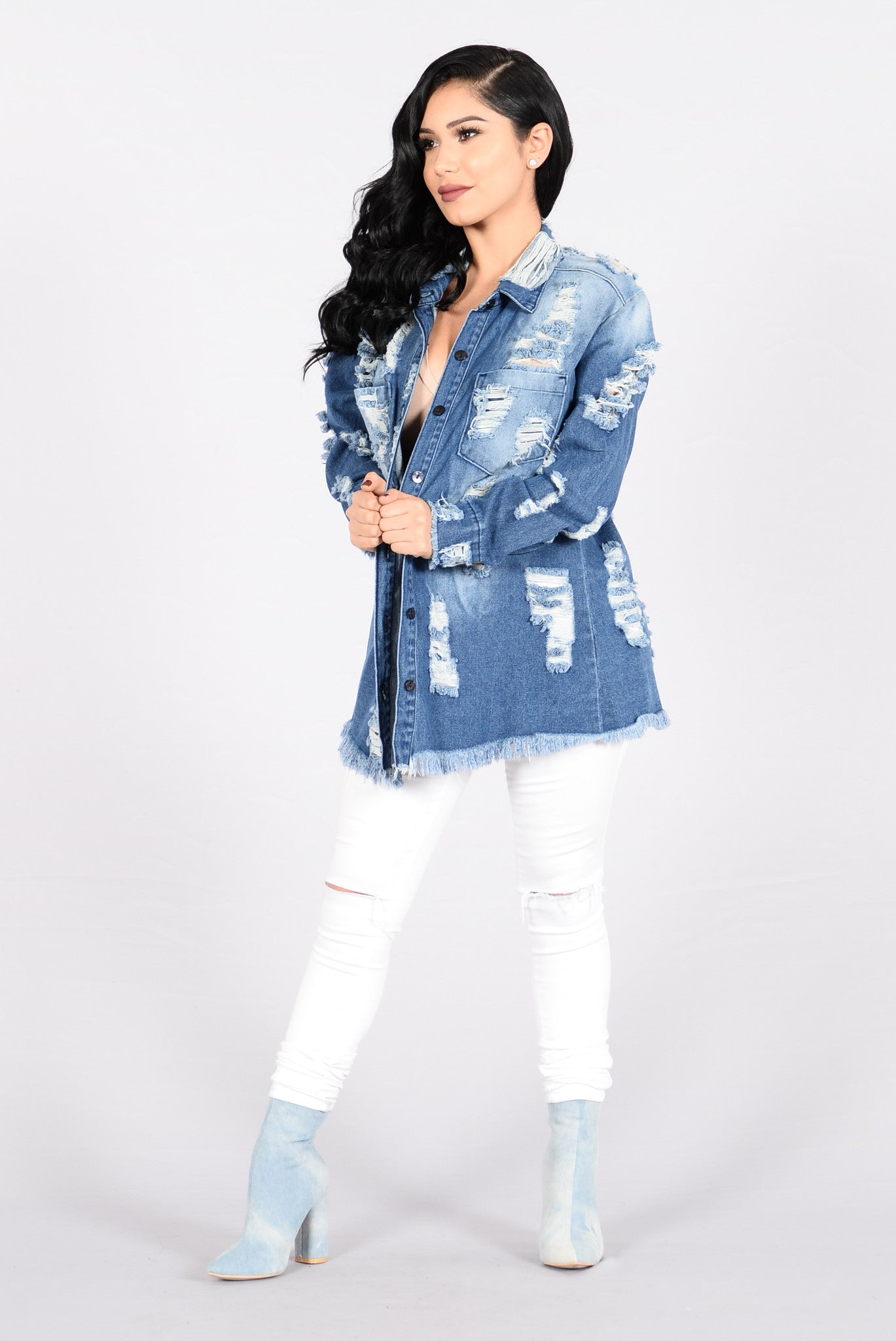 8a8531ffa45 Destroyed And Conquered Denim Jacket - Medium Blue
