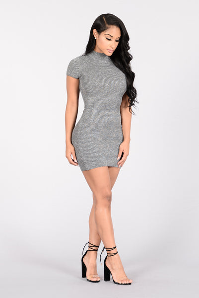 Wanderlust Babe Dress - Grey/Silver