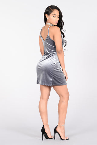 Oh What A Night Dress - Grey