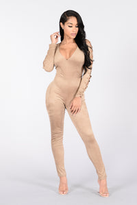 Feels Like Butter Jumpsuit - Taupe