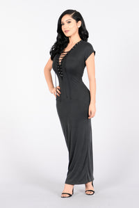 One Way Dress - Charcoal