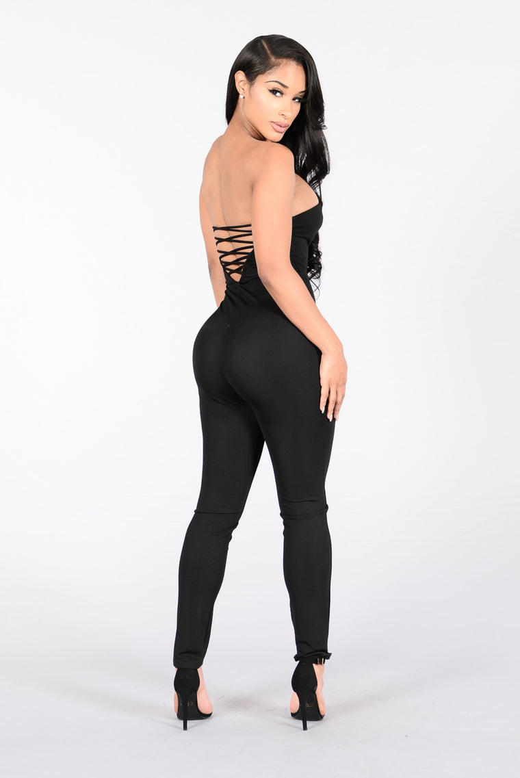 Being Wild Jumpsuit - Black