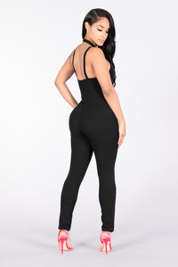 Living On The Edge Jumpsuit - Black
