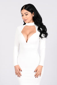 Make You Love Me Dress - Ivory Angle 4