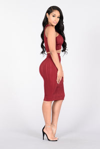 Days Like This Skirt - Burgundy