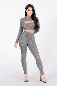 So Into You Set - Heather Grey