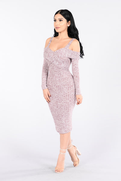 Gambling Lady Dress - Mauve
