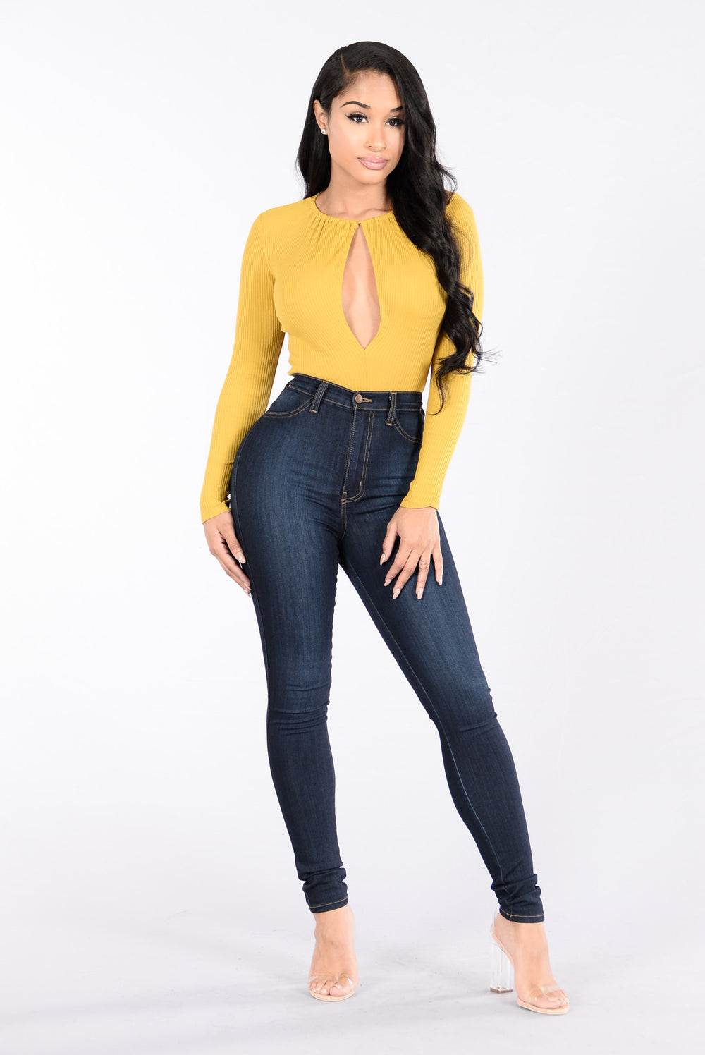 All About Me Bodysuit - Mustard