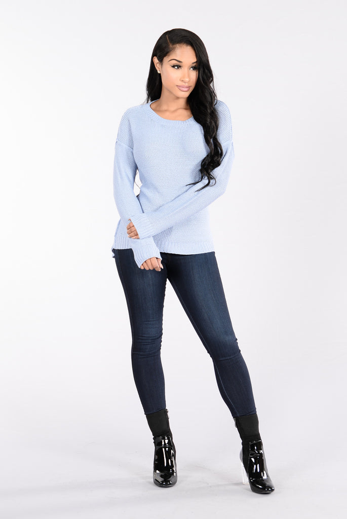 You Know It Sweater - Light Blue