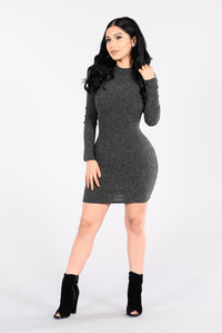 Love Myself Dress - Charcoal Angle 1