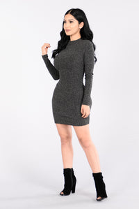 Love Myself Dress - Charcoal Angle 3