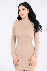 Rain On Me Dress - Taupe