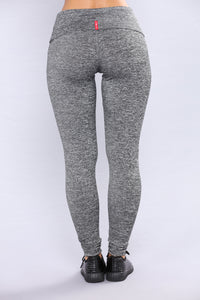 Lolita Active Yoga Leggings - Marled Charcoal