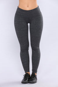 Lolita Active Yoga Leggings - Melange Black