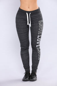 Dreamlover Lounge Joggers - Marled Black