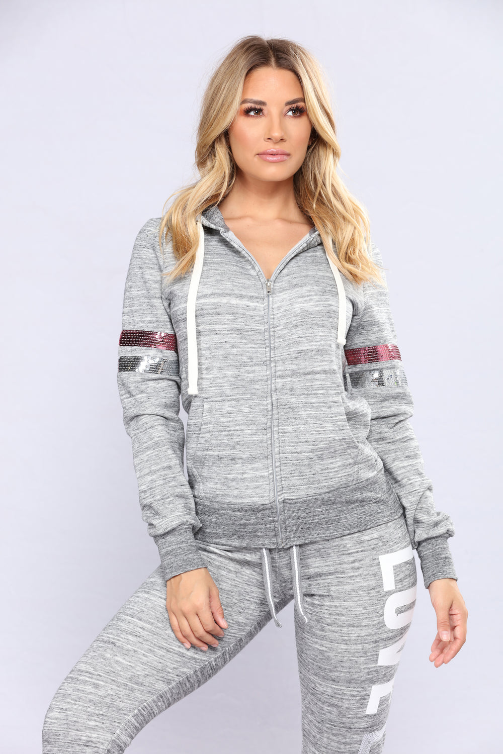 Crazy In Love Lounge Hoodie - Marled Charcoal