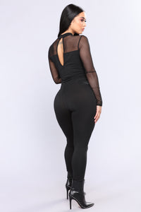 On My Mind Jumpsuit - Black