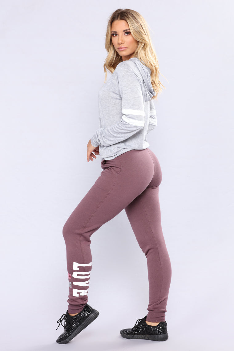 Crazy In Love Lounge Joggers - Vintage Violet