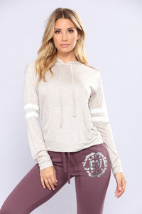 Brianna Pullover Hoodie - Oatmeal Combo