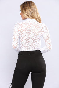 April Ruffle Lace Top - White Angle 5