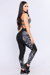 Fonaa Active Leggings - Black/White
