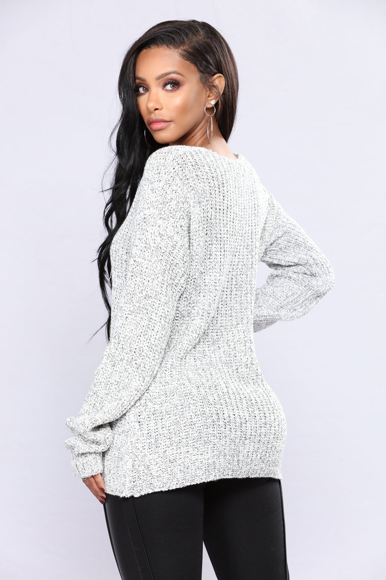 Orly Knit Sweater - Ivory Combo