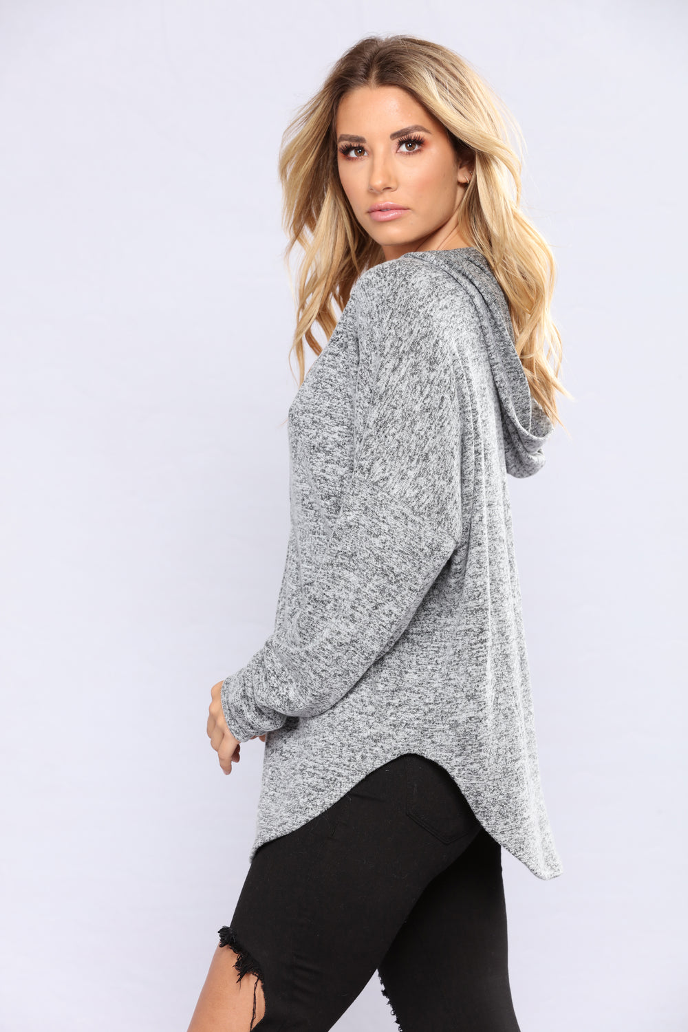 Life Gets Better Sweater - Charcoal