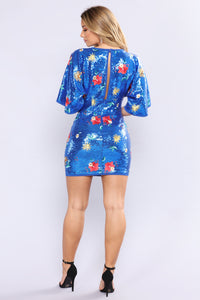 Staycation Mini Dress - Royal