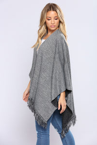 Beyond Cozy Two Tone Shawl - Heather Combo