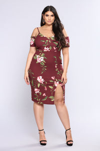 Let Love Rule Mini Dress - Wine/Pink