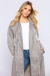 Sotto Plaid Trench - Multi
